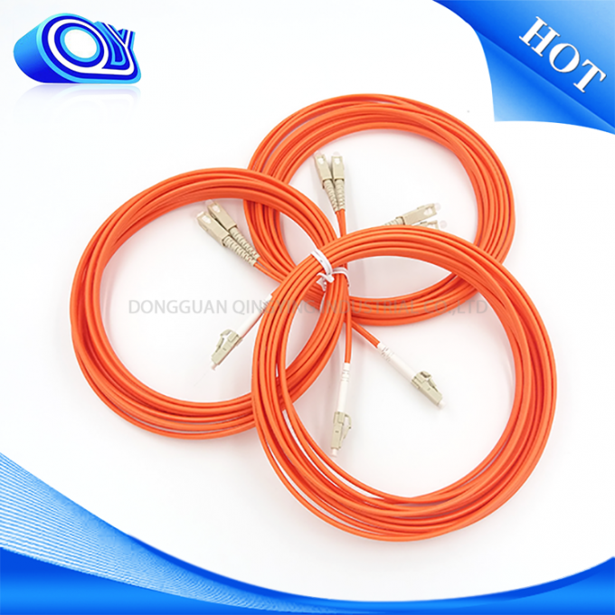 LC FC ST SC Fiber Optic Patch Cord 3 Meter Low Insertion Loss For Multimedia