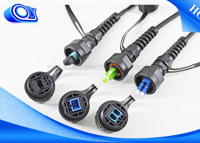 Outdoor Waterproof Cable Connector ODVA - LC UPC / SC APC Optical Fiber Parts