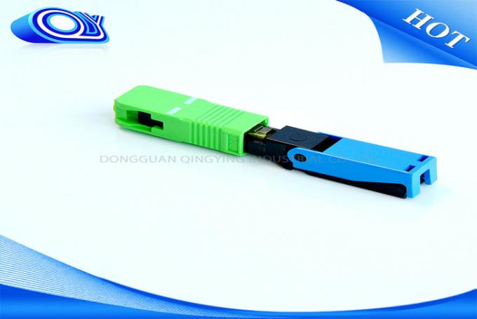 Blue SC PC UPC Fiber Optic Fast Connector OFNR Flame Retardant For PON Networks