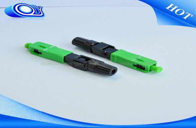 Single Item Fiber Optic Fast Connector For FTTH Drop Cable OFNR Flame Retardant