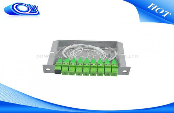 Compact Design 1 * 8 Optical PLC Splitter Low Insertion Loss For Communication