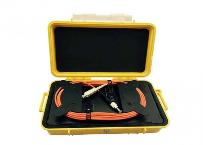 Durable OTDR Ring Box Dummy Fiber Optic Launch Box With SM / MM Connectors