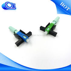China Blue / Green SC Type Fiber Optic Connector SM / MM For PON Networks OEM supplier
