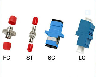 China CATV Fiber Optic Adapter FC ST SC LC Simplex / Duplex Metal Optical Adapters supplier