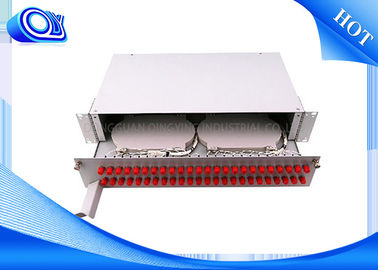China PP - FC 48 Port Optical Fiber Patch Panel Fixed & Sliding Type For FTTH supplier