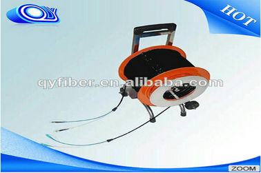 China Video Transmitting Portable Tactical Fiber Optic Cable Trailers Single Mode / Multi Mode supplier