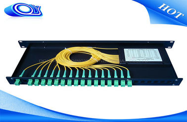 China Indoor Waterproof 1 X 32 Inserting Optical PLC Splitter Total Enclosed Structure supplier