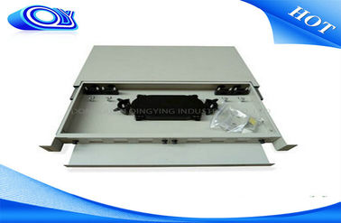 China 24 Port Optical Fiber Patch Panel 300 * 180 * 25mm Drawer Structure For LAN / WAN supplier