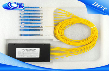 China 1 X 8 Single Mode Fiber Splitter , SC UPC Multimode Fiber Splitter For CATV Systems supplier