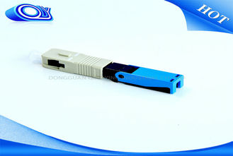 China Blue SC PC UPC Fiber Optic Fast Connector OFNR Flame Retardant For PON Networks supplier
