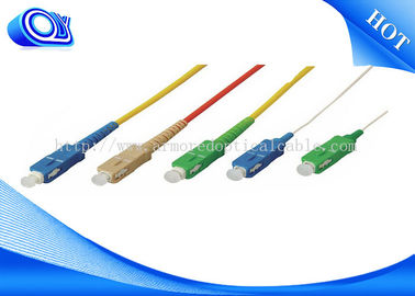 China SC Type Fiber Optic Jumper Cables / Patch Cord Jumper 0.9mm 2.0mm 3.0mm supplier