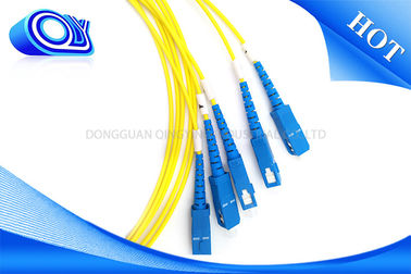China Yellow Single Mode Fiber Optic Patch Cable G652D 3.0 mm 2.0mm 0.9mm supplier