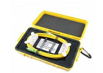 China Durable OTDR Ring Box Dummy Fiber Optic Launch Box With SM / MM Connectors supplier