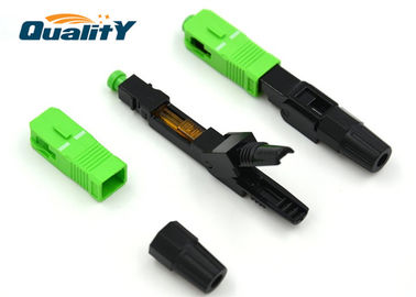 China Fast Single Mode Fiber Connector For Active Device Termination supplier
