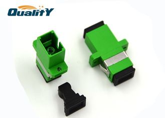 China Factory Connector Type SC-SC Polish APC Single mode Simplex Fiber Optics Adaptor supplier