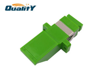 China Simplex Single Mode SC Coupler Fiber Optic Shutter Adapter Carton Packing supplier