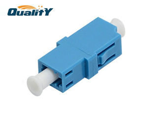 China Lc Upc Female To Female Coupler Optic Fiber Adapter Plastic Material supplier