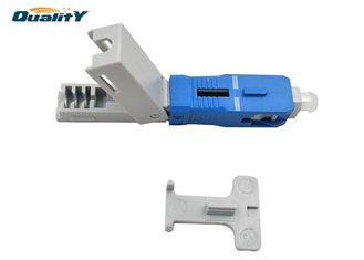 China Low insertion loss Fast Connector / Single Mode Sc Upc Quick Connector supplier