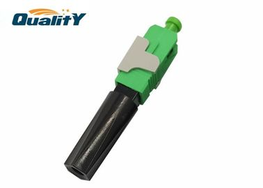 China Easy Assemble Optic Fiber Fast Connector / Fiber Optic Connector Types Green Color / Sc Fast Connector supplier
