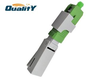 China QSC53KJ2-APC Fiber Optic CATV FTTH Fast Connector Easy Installation supplier