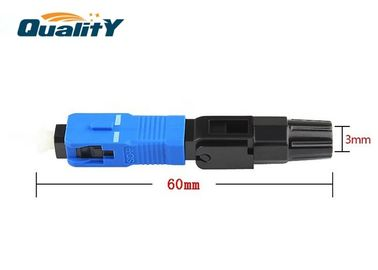 China Low Signal Loss Fiber Optic Fast Connector For Patch Panels / Equipment Test Leads supplier