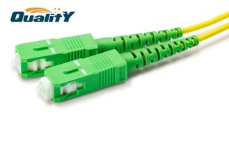 China Single mode cable 2.0mm 3.0mm SC APC UPC simplex connector optic fiber patch cord supplier