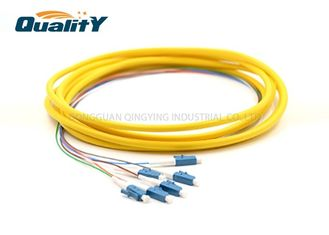 China Low IL Fiber Optic Pigtail LC UPC 6 Core G652D Single Mode Cable supplier
