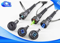 Black Military Tactical Fiber Optic Cable Part With ODVA LC Waterproof Connector
