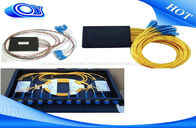 China Inserting Waterproof Fiber Optic Termination Box / 1 X 32 Optical PLC Splitter Anti - UV factory
