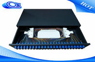 Drawer Type Optical Fiber Patch Panel LC Simplex 48 Port White / Black For FTTH