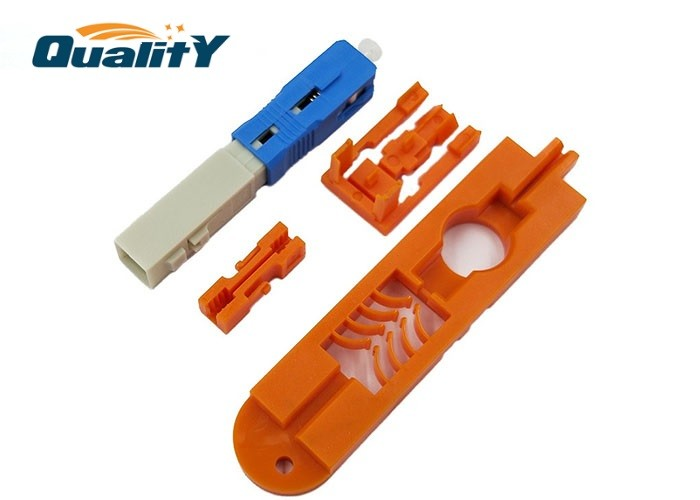 Assembly Blue Color SC UPC quick Connector SC Optic Fiber Fast Connector