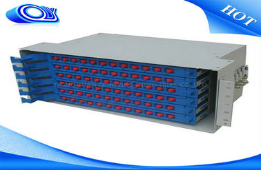 China Light Gray 48 Port Fiber Optic Patch Panel , Fiber Optic Splice Tray For FTTX Systems factory