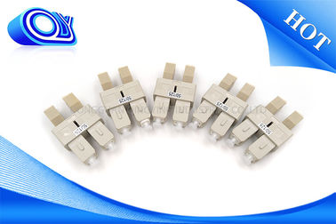 China Mating sleeve  LC To SC Fiber Adapter / Multimode Duplex Hybrid Fiber optic Adapter factory