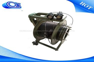 Outdoor Fiber Optic Cable Reel Drum With 200m Extension ODVA - LC Waterproof Connectors