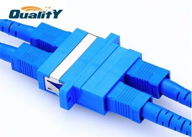 China 0.1dB SC UPC Fiber Optic Adapter / Flange Sc Duplex Optic Fiber Coupler factory