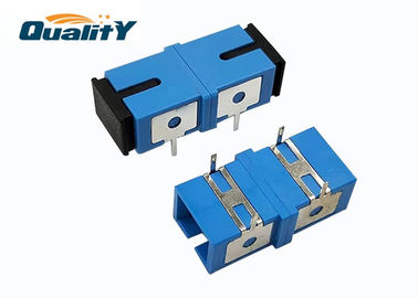China Flange Low IL SC UPC APC Simplex Optical Fiber Adapter Single Mode Zirconia Sleeve Material factory