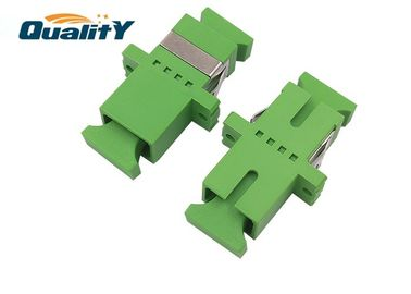 China Plastic FTTx Coupler Standard SC / APC Fiber Optic Adapter Compact QADSC-APC-003 factory