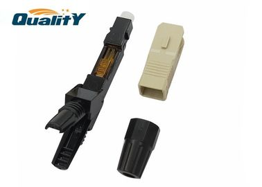 China Gray SC Fiber Optic Fast Connector For Data Transmission / Active Device Termination factory