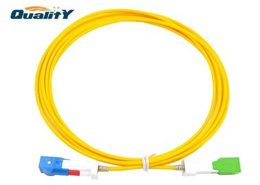 China LSZH 3 Meter Fiber Optic Patch Cable SC APC SC UPC Auto - Shutter Connector factory