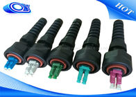 PE Jacketed Outdoor Fiber Optic Patch Cord With ODVA LC Connector IP67