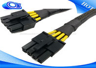 Black HDMI Active Optical Cable , 15 Pin Male to Molex IDE 4 Pin Power Cable