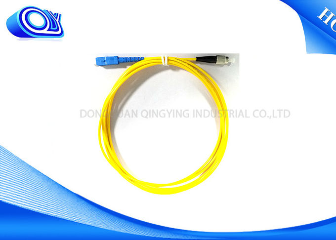 Yellow Single Mode Fiber Optic Patch Cable G652D 3.0 mm 2.0mm 0.9mm