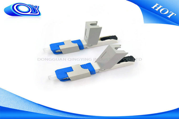 OEM SC UPC Field Installable Connector SC Fiber Optic Connector Blue Color